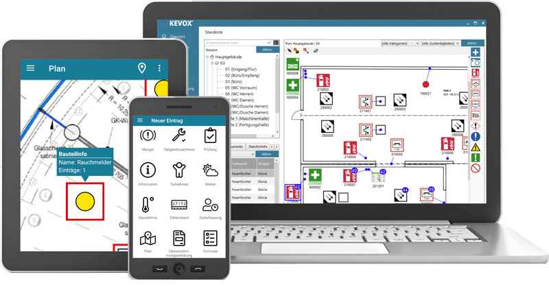 Mängelmanagement mit KEVOX Software und App